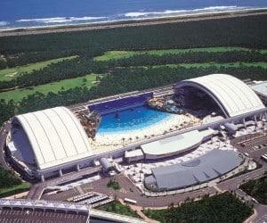 Bizarre Beaches From Around The World Ocean Dome - Miyazaki, Japan