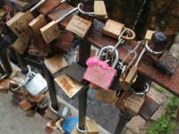 Love Lock Bridge Vilnius Lthunania