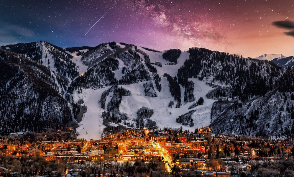 Best Time to VisitAspen city skyline with milky way