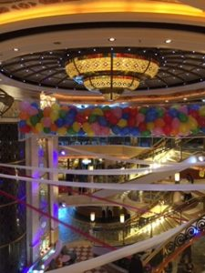 balloon drop on Princess Cruises
