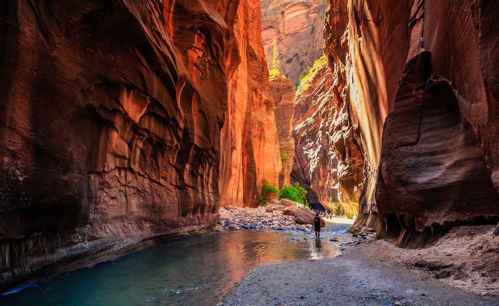The Majestic Narrows in Zion National Park in Utah