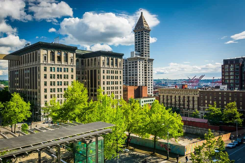View of buildings near Pioneer Square