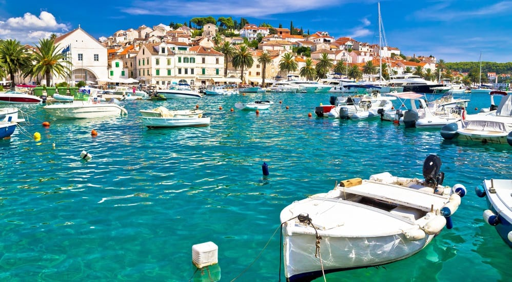 turquoise waterfront of hvar island